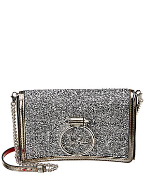 Christian Louboutin Rubylou Glitter Leather Clutch From Gilt Styhunt