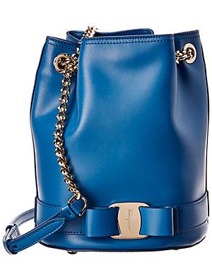 Salvatore Ferragamo Vara Bow Leather Bucket Bag 71f74fe06fd5c