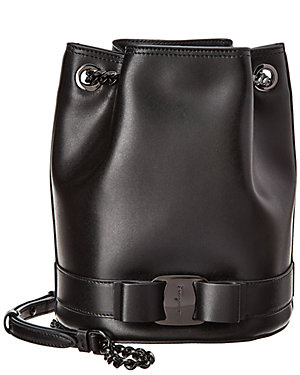 Salvatore Ferragamo Vara Rainbow Leather Bucket Bag c8019a291adae