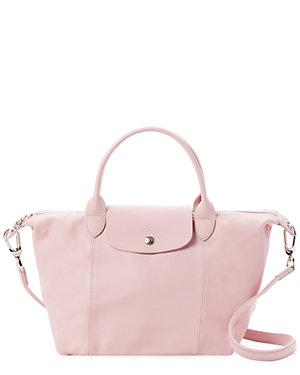 52ba7114902248 Longchamp Le Pliage Cuir Small Leather Top Handle Satchel