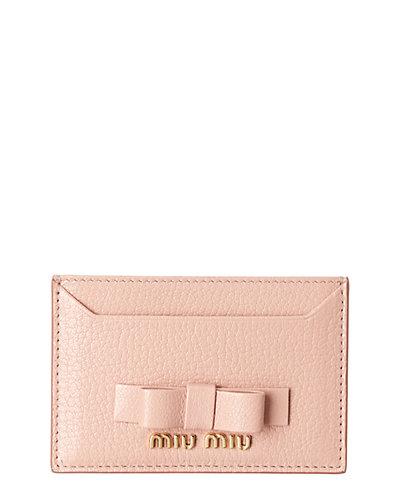 Miu Miu Bow Leather Card Holder by Miu Miu