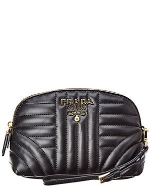 406d1c889b65de Prada Diagramme Leather Cosmetic Bag from Gilt - Styhunt