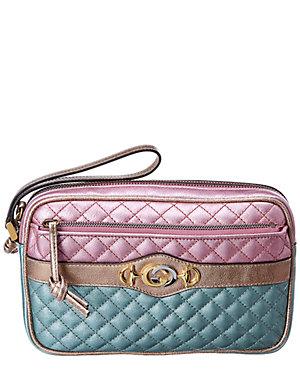 d65533c7fc5 Gucci Trapuntata Leather Wristlet