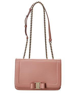 97c2acfb837e Salvatore Ferragamo Medium Vara Bow Leather Shoulder Bag from Gilt ...