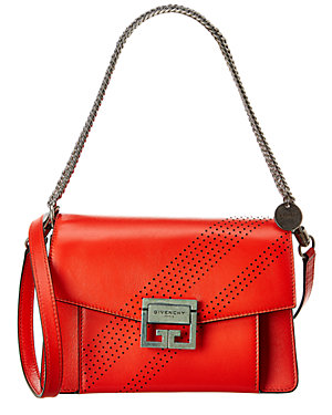 96116cd0b74e9 Givenchy Gv3 Small Perforated Leather Shoulder Bag