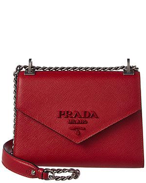 bff22b81068578 Prada Monochrome Saffiano Leather Shoulder Bag