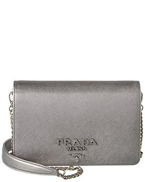 3e9ab24f3ee8 Prada Monochrome Saffiano Leather Shoulder Bag from Gilt - Styhunt