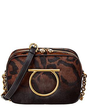 dd963294236e Salvatore Ferragamo Vela Calf Haircalf Camera Bag
