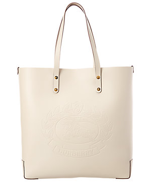 6e801e89311 Burberry Embossed Crest Leather Tote