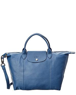 b3919e6c26163d Longchamp Le Pliage Cuir Medium Leather Top Handle Satchel