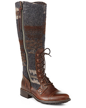 Woolrich Women's Roadhouse Leather & Wool Boot
