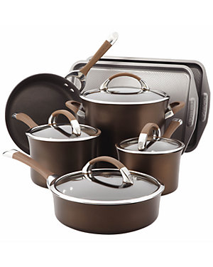 Circulon Symmetry Chocolate Hard Anodized Nonstick 9pc with 2pc Bakeware Set