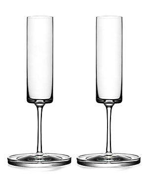 Orrefors Karl Lagerfeld Set of Two Flutes