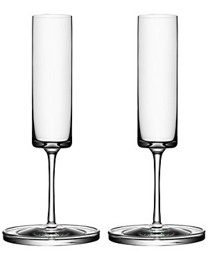 Orrefors Set of Two Flutes by Karl Lagerfeld