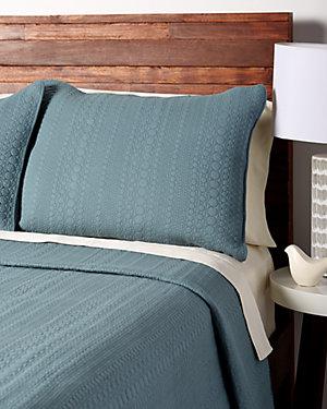 Blue Cotton Quilt Set