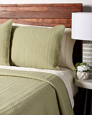 Sage Cotton Quilt Set