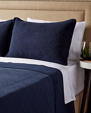 Navy Cotton Quilt Set