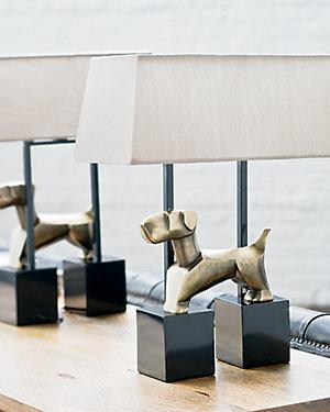 19.5in Doggie Table Lamp