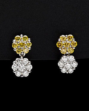Charriol Cignature 18K 0.62 ct. tw. Yellow & White Diamond Drop Earrings