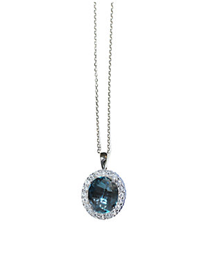 Anzie Royale Silver 6.00 ct. tw. Topaz Necklace