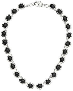 SLANE Nuage Silver Onyx Necklace