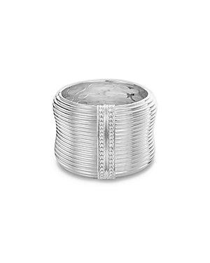 SLANE Column Silver Bangle