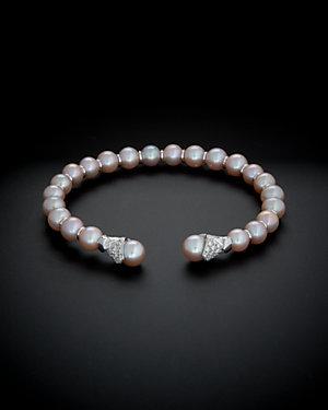 Salavetti 18K 0.42 ct. tw. Diamond & Pearl Bracelet