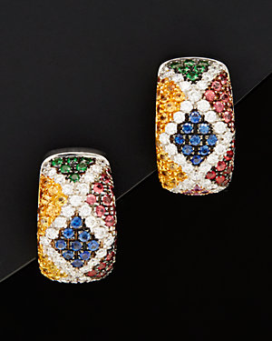 Salavetti 18K 6.19 ct. tw. Diamond & Gemstone Earrings