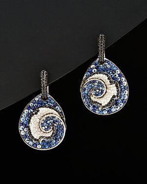 Salavetti 18K 8.07 ct. tw. Diamond & Sapphire Earrings