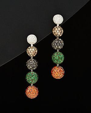 Salavetti 18K 7.04 ct. tw. Diamond & Gemstone Earrings