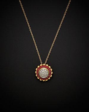 Salavetti 18K 4.90 ct. tw. Diamond & Ruby Necklace