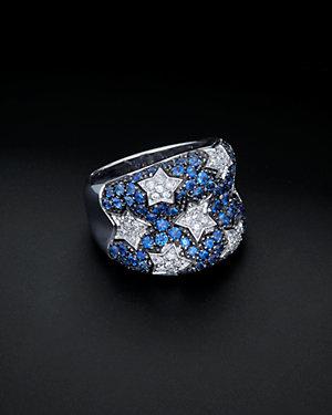 Salavetti 18K 1.81 ct. tw. Diamond & Sapphire Ring