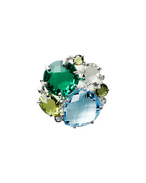 Anzie Bouquet Silver 10.75 ct. tw. Gemstone Cluster Ring