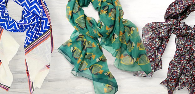 Bright & Airy Scarves Featuring Printed Village