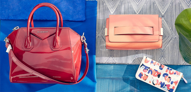 Handbags & Shoes in Sunset Hues Featuring FENDI