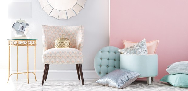 Now Trending: Modern Pastels & Metallics at Home