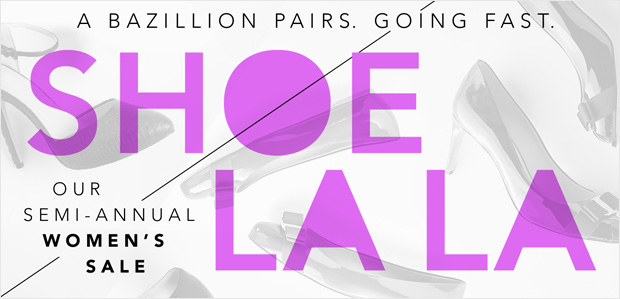 Shoe La La: Our Semi-Annual Women's Sale