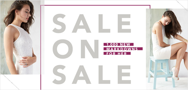 SALE on SALE: 1,000 New Markdowns