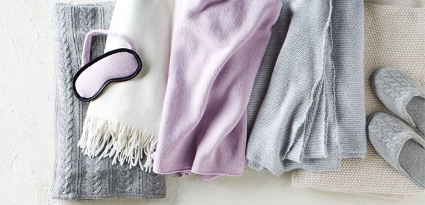 Cashmere Comforts: Throws, Robes, & Slippers