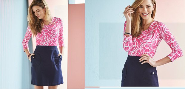 Navy & Pink Looks in Prep for Spring