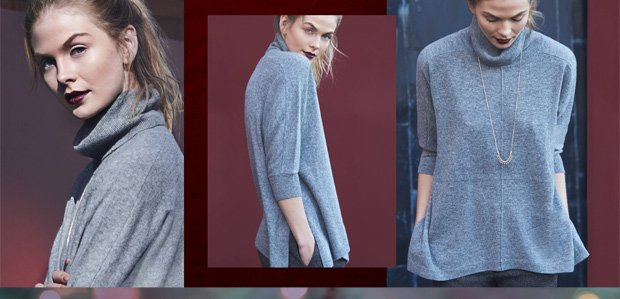 Cashmere Sweaters in Goes-with-Everything Grey
