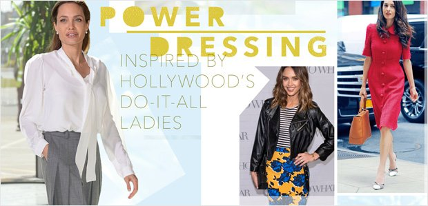 Power Dressing Inspired by Hollywood's Do-It-All Ladies