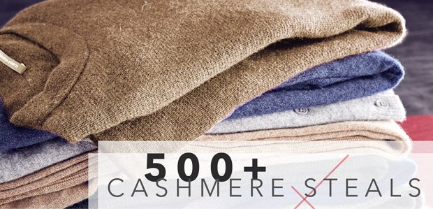 Cold Weather, Hot Sale: 500+ Cashmere Steals