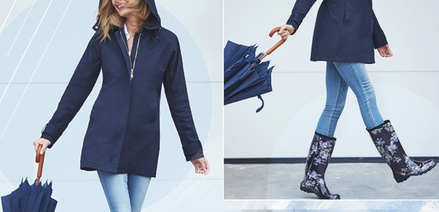 Bring On the April Showers: Jackets to Umbrellas
