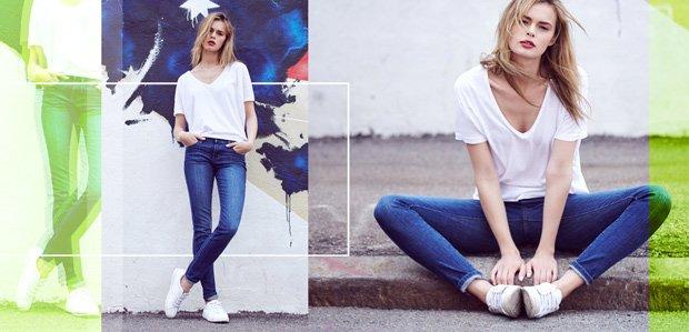 Be a Casual-Cool Queen: Denim, Tops, & Sneakers