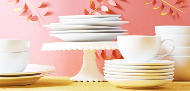 Set a White Table: Pristine Glasses to Serveware
