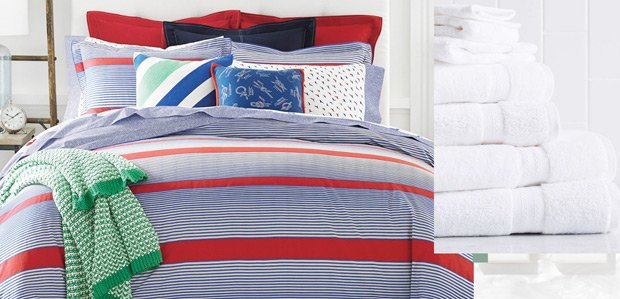 The Preppy Bed & Bath Featuring Tommy Hilfiger