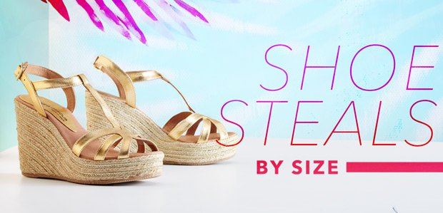 Shoe Steals: Shop by Size
