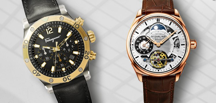 Salvatore Ferragamo & More Men's Leather Watches