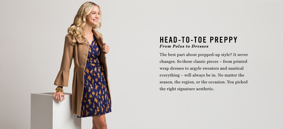 Head-to-Toe Preppy: From Coats to Dresses